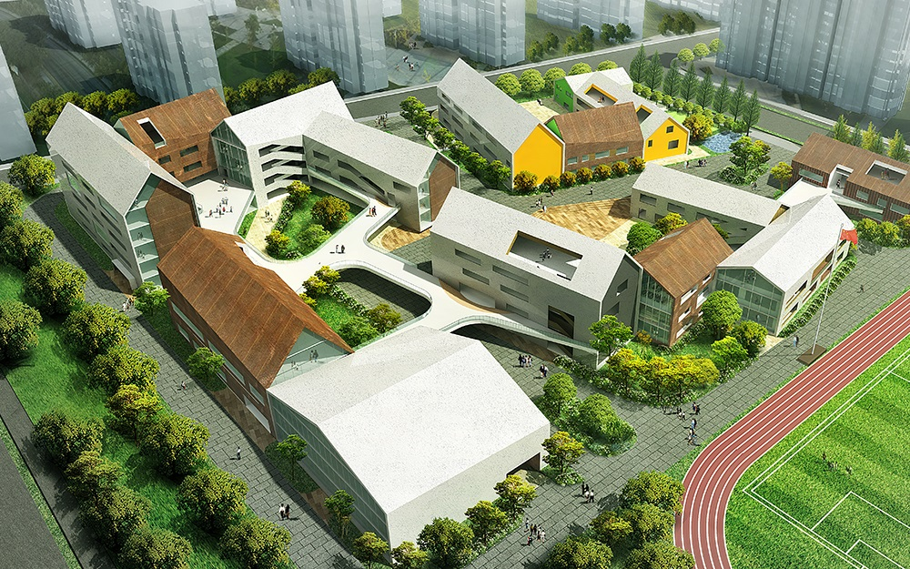 LYCS Architecture Wins First Prize to Build Hangzhou Future Sci-Tech City  NO.2 Kindergarten and  Nine-year Education School