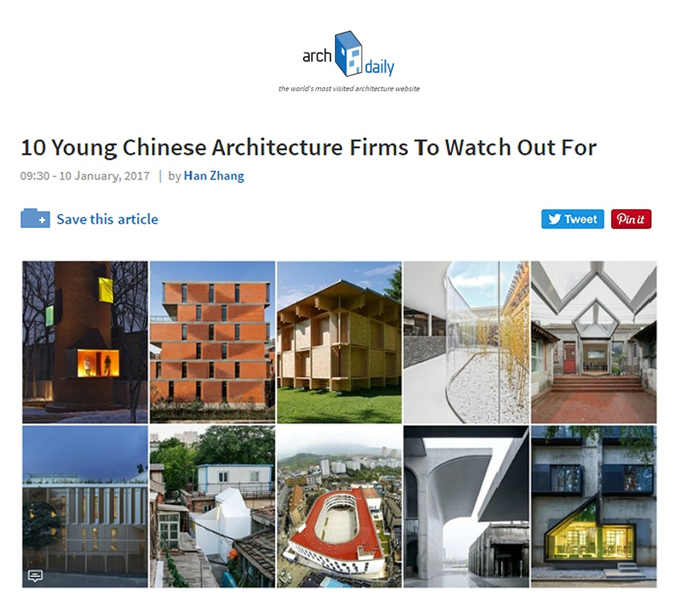 ArchDaily: 10 Young Chinese Architecture Firms To Watch Out For