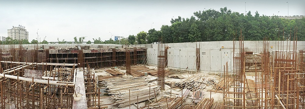 "The construction of ""Shanghai Baoye center"""