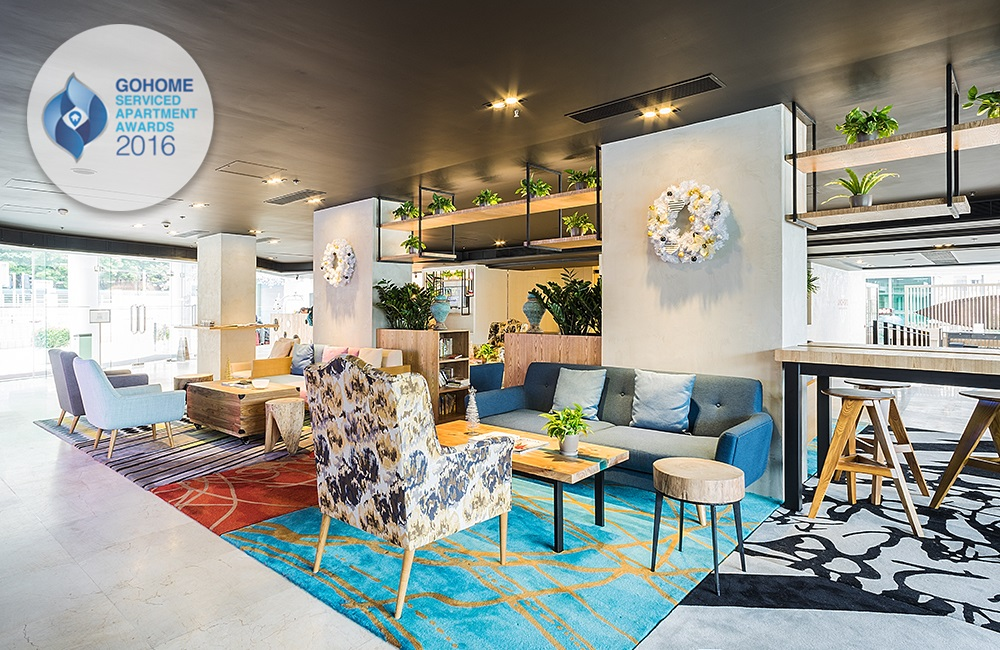 "LYCS Architecture's Work Bay Bridge Hote Won the ""GoHome Serviced Apartment Awards 2016"""
